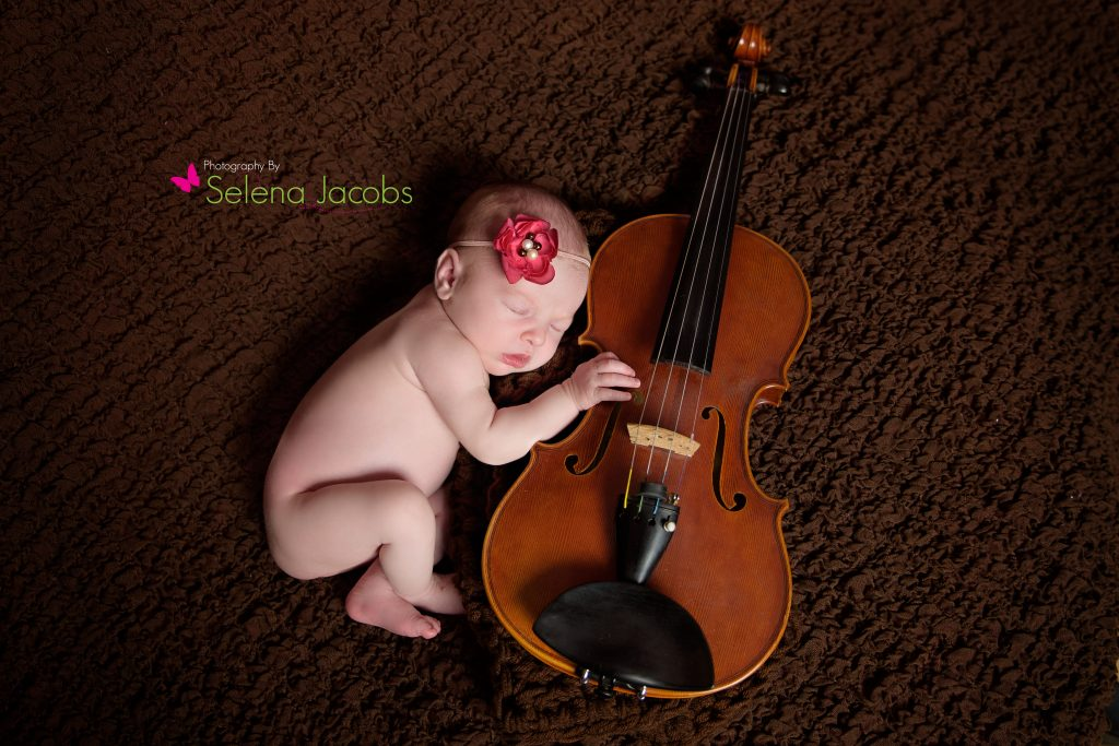 Newborn McDonough Violin Photographer
